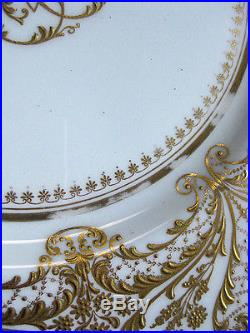 10 Antique ROYAL DOULTON Heavy Raised GOLD-ENCRUSTED Hand-Painted DINNER PLATES & 10 Antique ROYAL DOULTON Heavy Raised GOLD-ENCRUSTED Hand-Painted ...