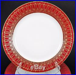 10 Gorgeous Antique Sevres Old Paris Hand Painted Cabinet Plates Gold Red
