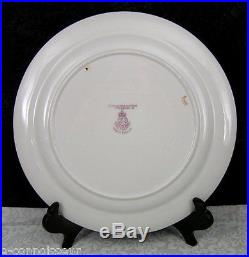 (8) Royal Worcester J. Stanley Hand-Painted Floral & Gold Etched Plates