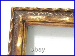 ART DECO VINTAGE HAND CARVED GILDED FRAME FOR PAINTING 20 x 16 INCH (e-38)