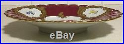 Antique Meissen Gold Gilt Plate Handpainted Flowers Mint Con Collectible Gift