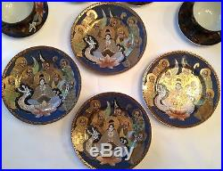 Antique Nippon 15 Piece Tea Set Hand Painted with 24K Gold