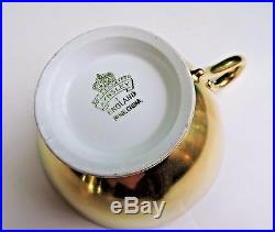 Aynsley Hand Painted ROSE Cup & Saucer Signed F. A. BAILEY Heavy GOLD Floral