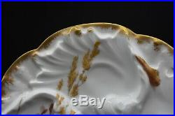 Chas Field Haviland Limoges Hand Painted Wave Mold Sea Life Ocean Oyster Plate D