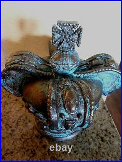 Crown, Finial, Handmade, Hand Painted, Old World, Tuscan, Royal, Bronze, Queen