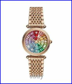 Fossil Limited Edition Lyric Three-Hand Rainbow Rose Gold Pride Watch Le1070