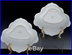 GORGEOUS PAIR c1900 AYNSLEY HAND PAINTED CASTLE SCENIC GOLD GILT SERVING BOWLS