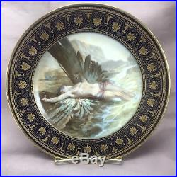 Imperial Sevres Hand Painted Signed PG Feare Cobalt Blue & Gold Plate Icarus