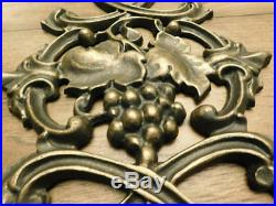 Kitchen Wall Decor, Grapes Wall Plaque, Old World, Tuscan, French Country, Wine