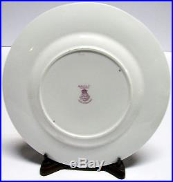 Royal Worcester Hand Painted Luncheon Gold Encrust Plate Set Signed W. H. Austin