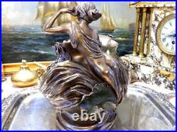 Vase With 2 Nymph Blossoms Hand Painted Quality Detailed Veronese Art 10 1/4