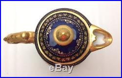 Wonderful Royal Vienna Cobalt Blue & Gold Teapot with 11 hand painted Figurals